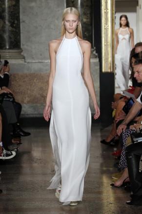 langes weißes Abendkleid, Emilio Pucci