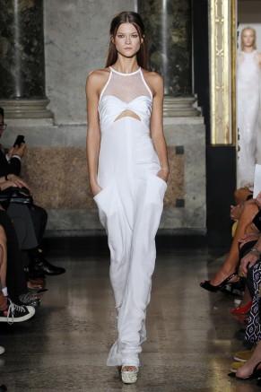 Weißes Abendkleid lang,  Emilio Pucci