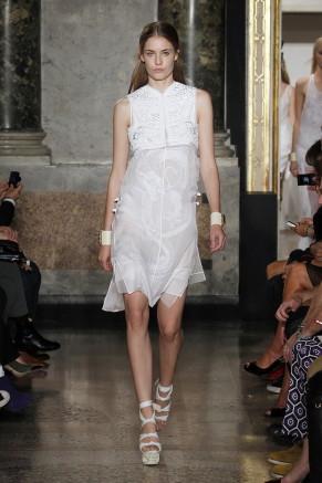 Weißes Kleid mit Bolero, Emilio Pucci