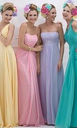 Abendkleider 2013 in Pastellfarben