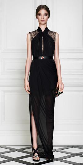 Abendkleid schwarz, transparent