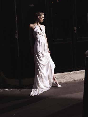 Hochzeitskleid Seide, lang - Ugo Zaldi