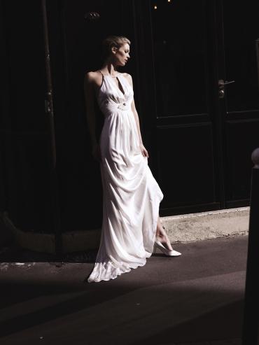 Brautkleid, 100% Seide, gefüttert, Ugo Zaldi, Paris - Braut Couture