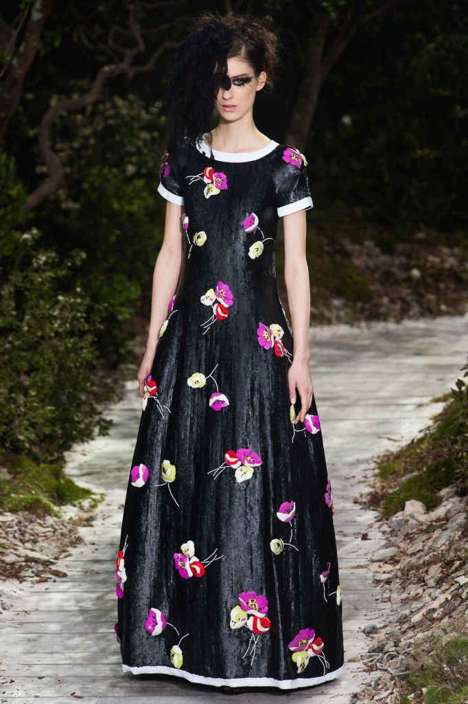 Chanel Abendkleid, Blumenprint