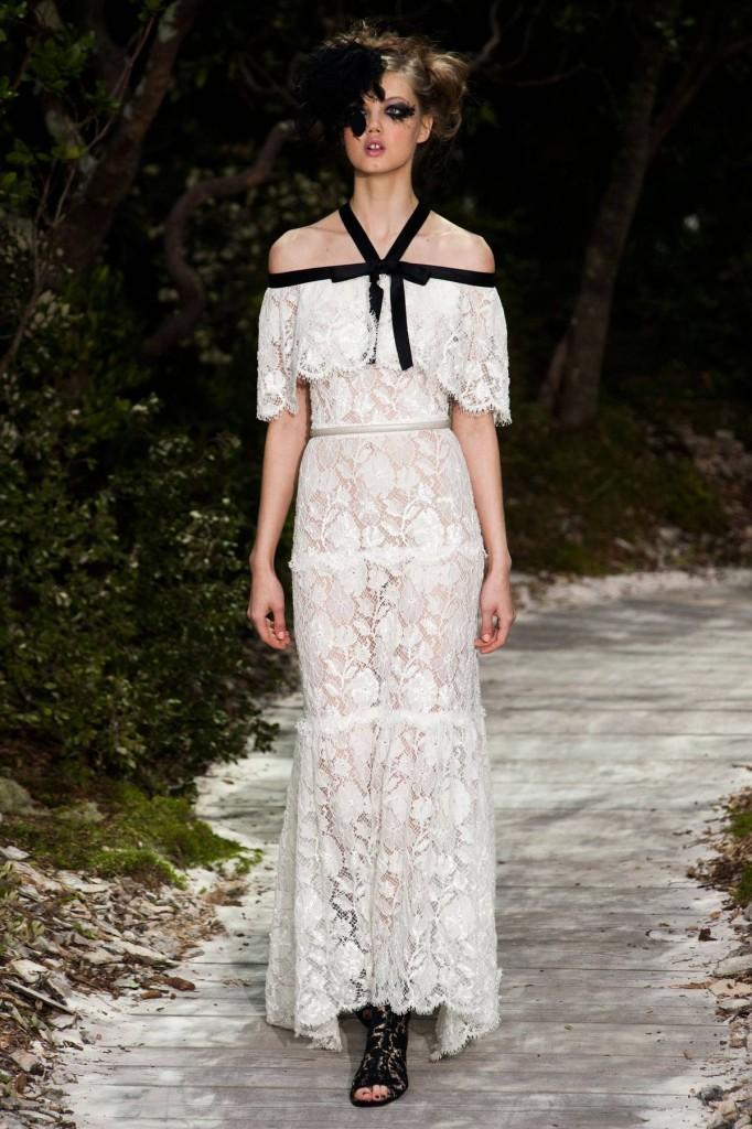 Chanel Abendkleid weiße Spitze