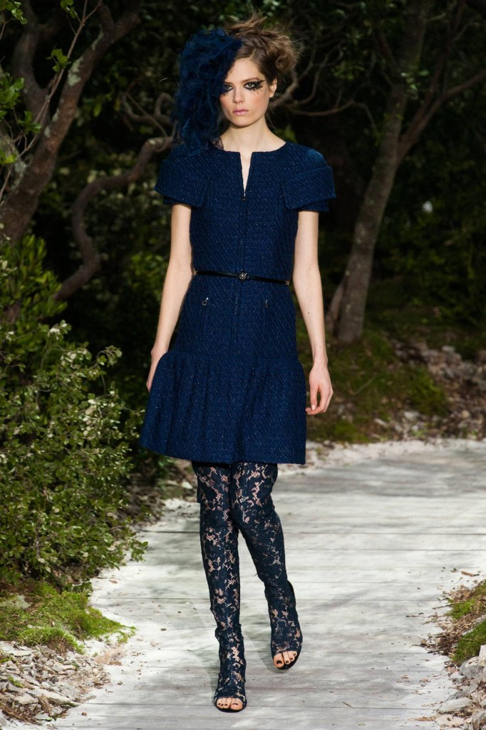 Cocktailkleid blau, Chanel 2013