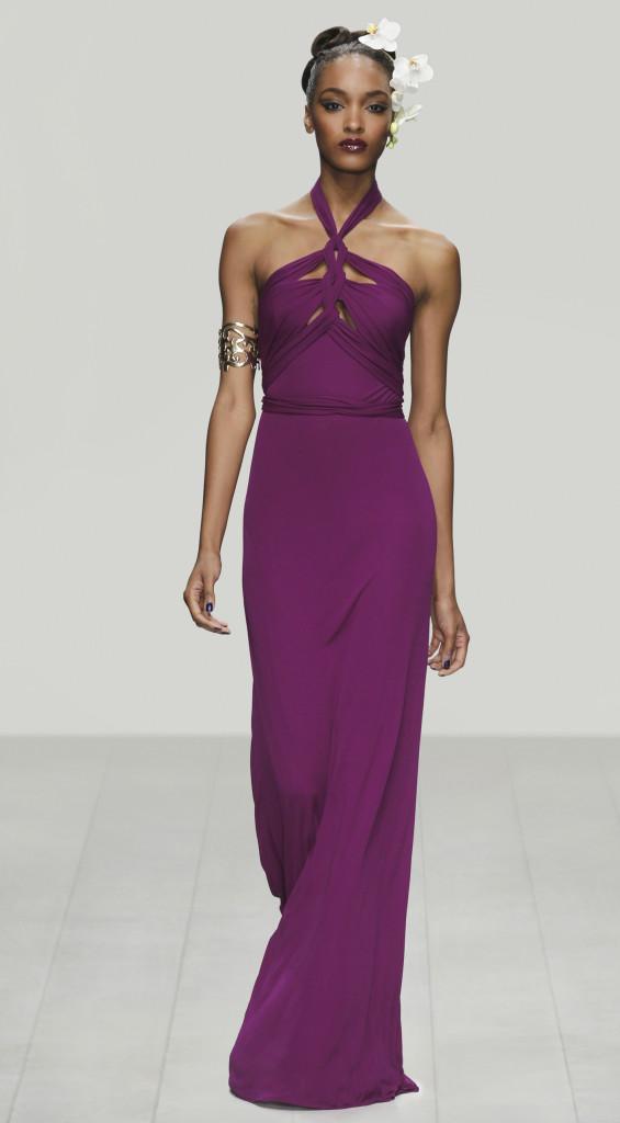 Violettes Abendkleid, Issa London.