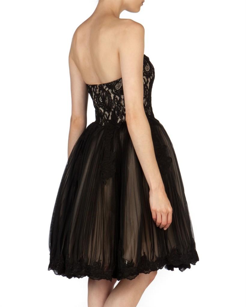 Abiballkleid schwarz, Petticoatkleid