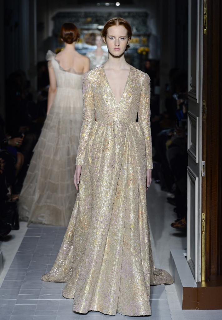 Valentino Abendkleid gold