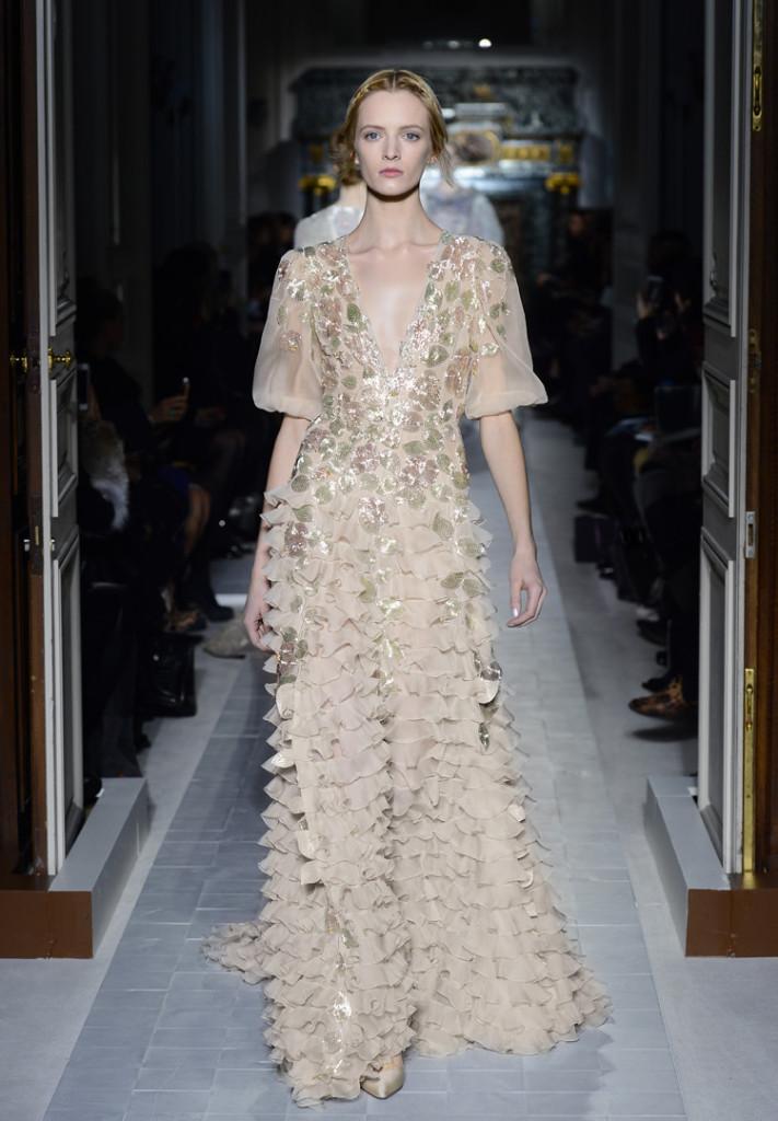 Valentino 2013 - Abendkleid weiß/gold