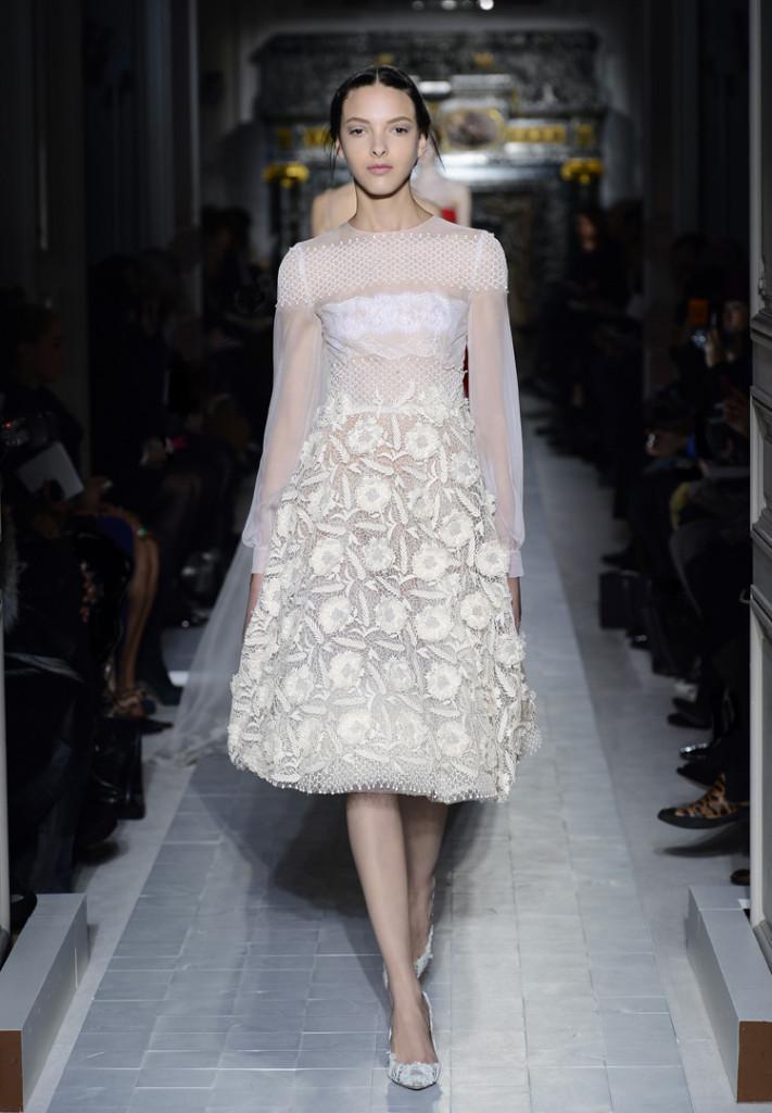 Valentino weißes Abendkleid kurz