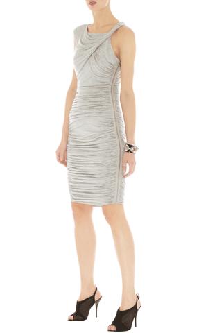 helles gerafftes Kleid, kurz, Karen Millen
