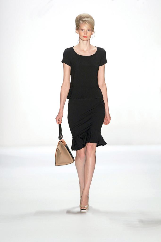 Schwarzes Abendkleid knielang, Minx Mode by Eva Lutz