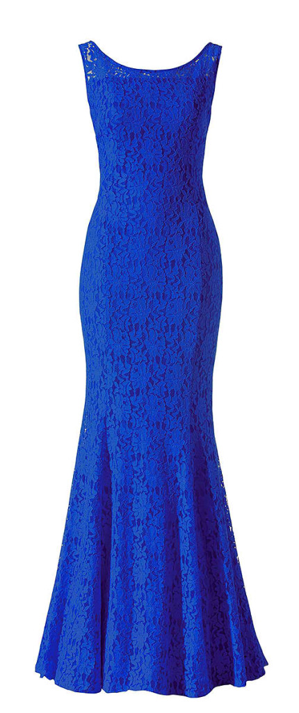 Blaues Spitzenkleid lang, Abendkleid 2013 Minx Mode