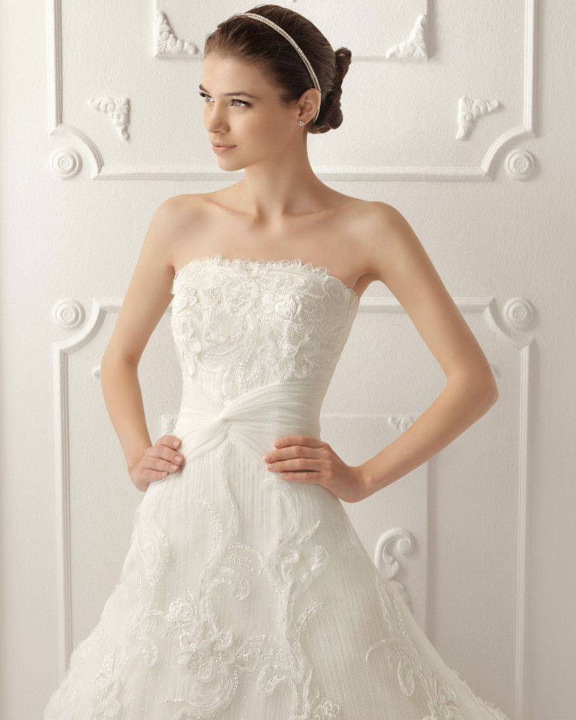 Korsagenkleid weiß - Brautkleid AIRE Barcelona