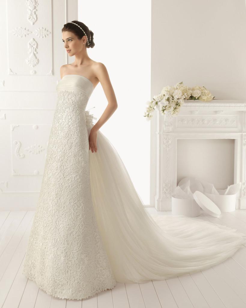 Bustierkleid weiß, Hochzeitskleid AIRE Barcelona