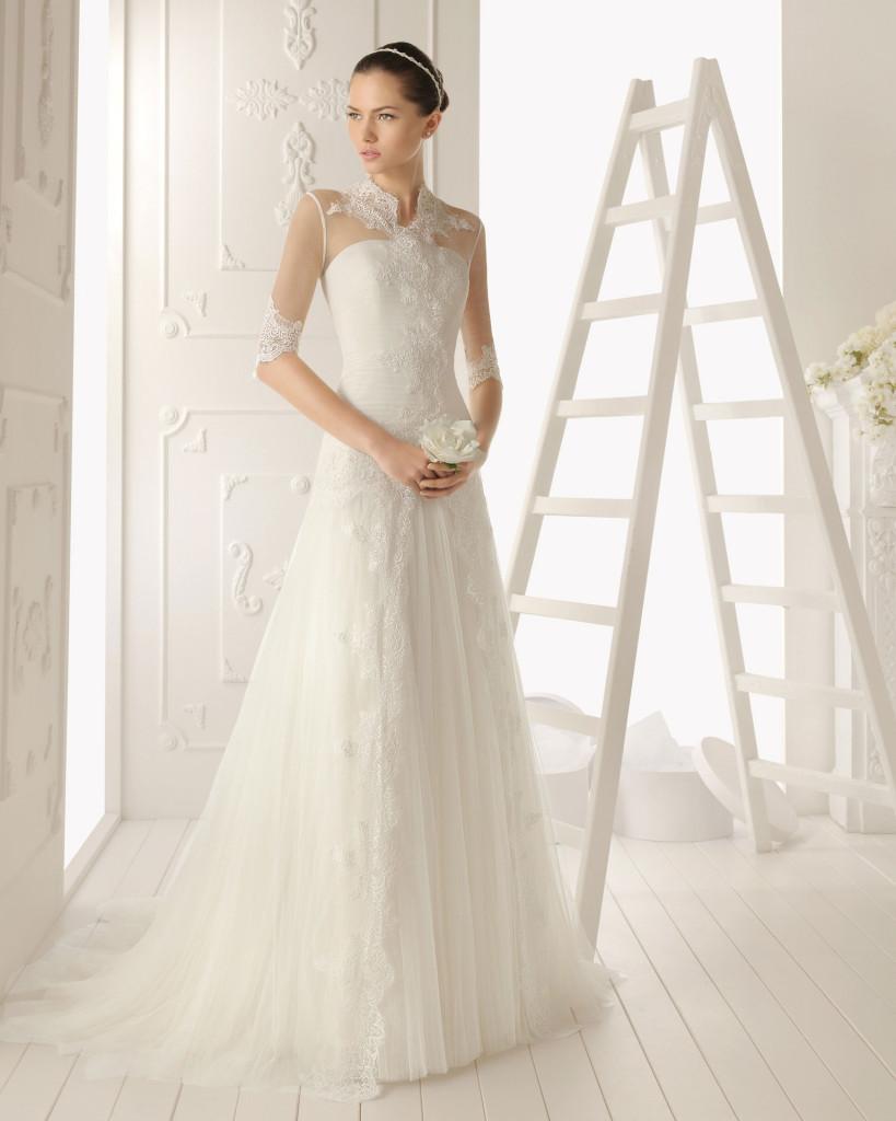 Langarm Brautkleid Hochzeitskleid Mit Stickereien Pictures to pin on ...