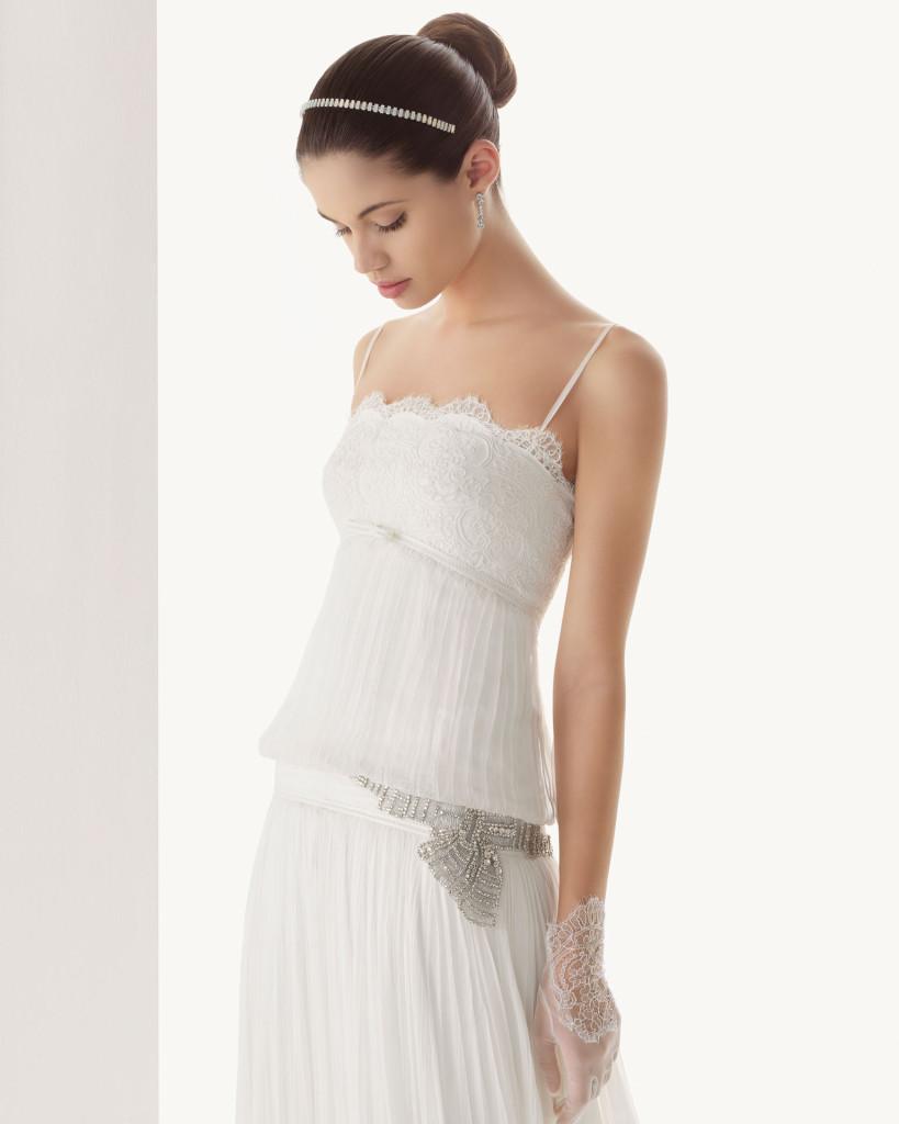 Avantgarde Hochzeitskleid, Rosa Clara