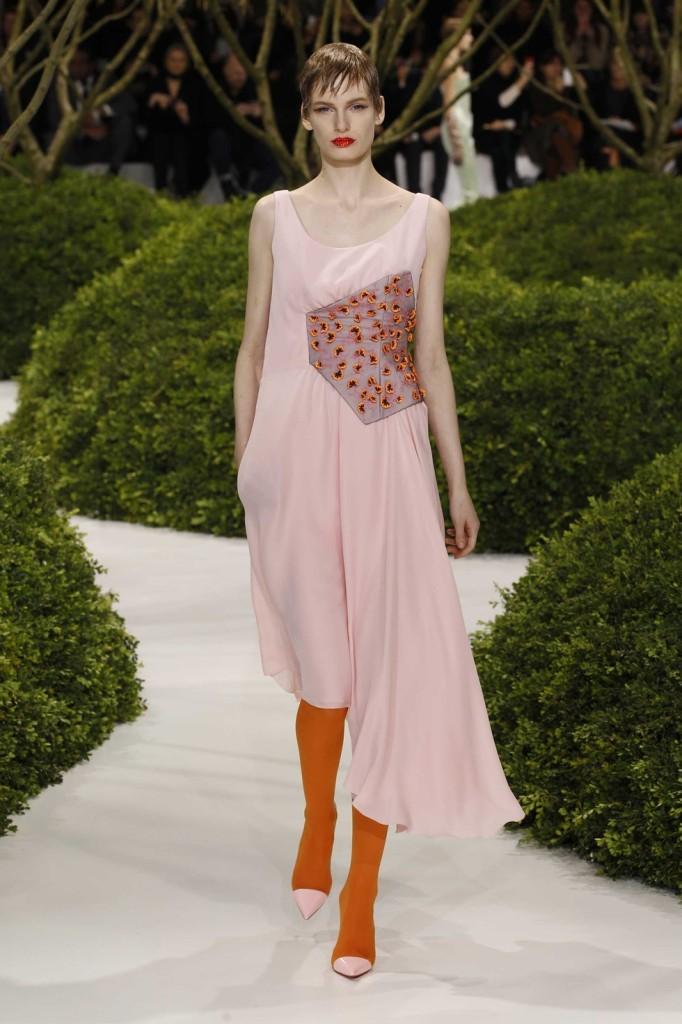 Besticktes blassrosa Cocktailkleid, Dior
