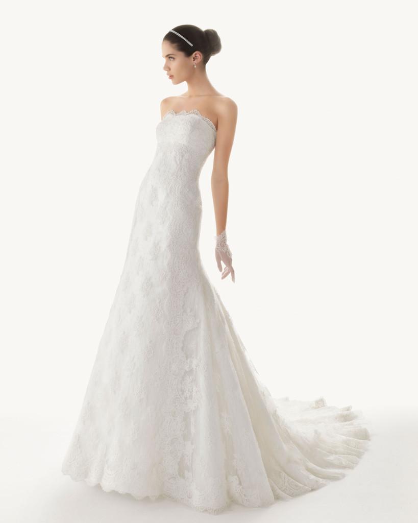 Bustier-Hochzeitskleid ausder Kollektion 2013 Rosa Clara - Brautmoden ...