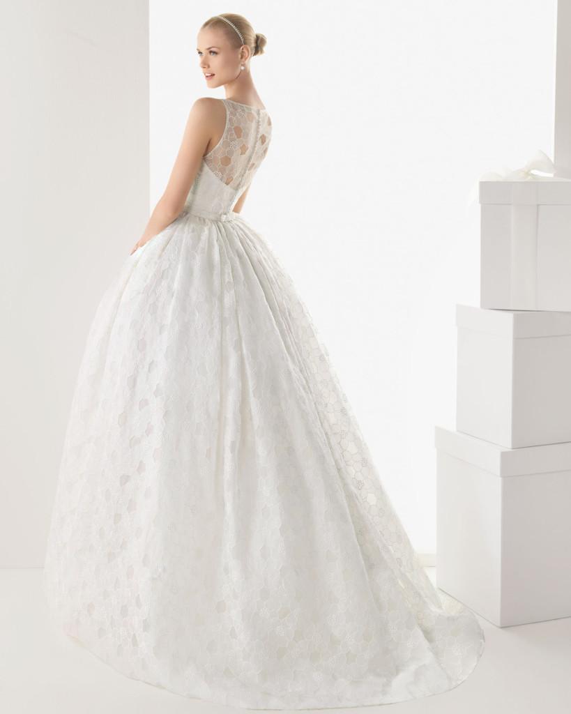 Glamour Hochzeitskleid weiß, Rosa Clara