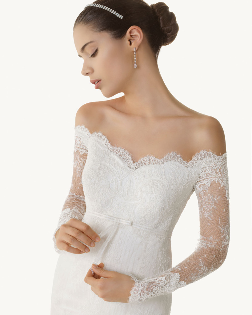 Schulterfreies Hochzeitskleid, Kollektion 2013, Rosa Clara