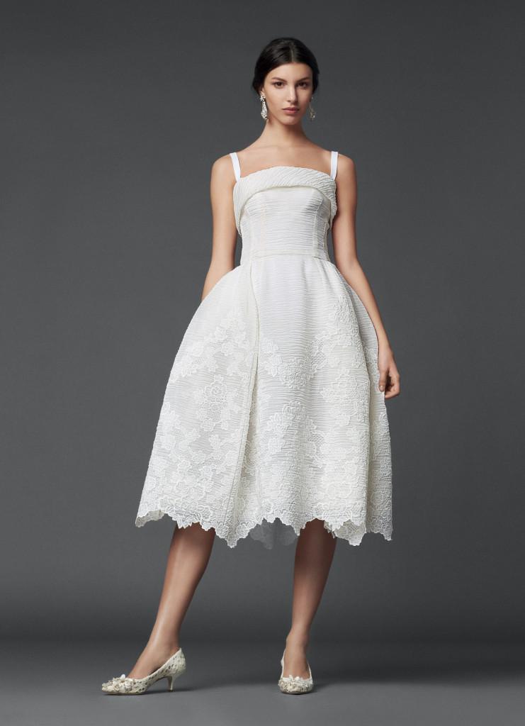 Dolce & Gabbana weißes Cocktailkleid