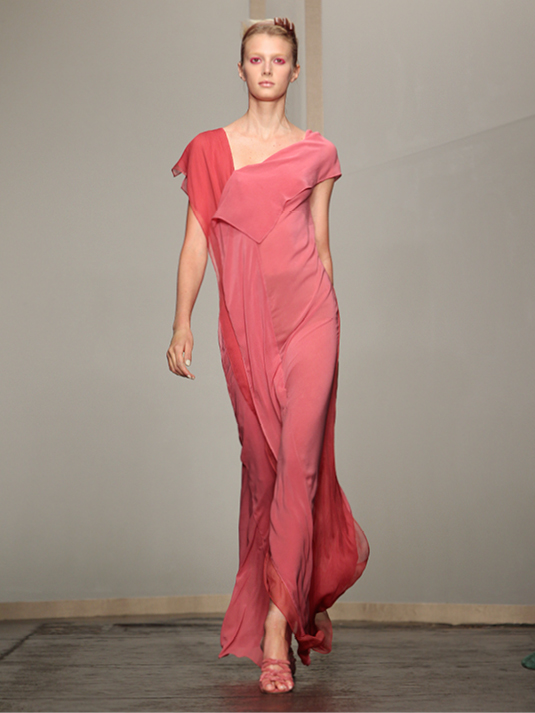 Donna Karan Abendkleid rosé-rot