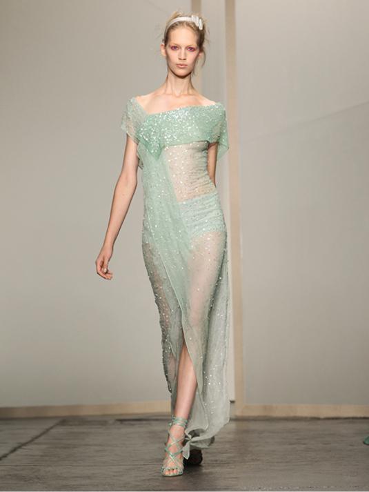 Donna Karan Abendkleid türkis