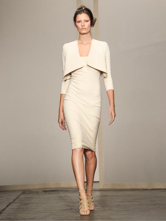 Donna Karan Abendkleid weiß