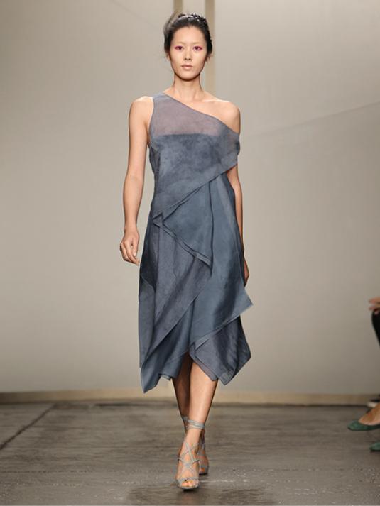 Donna Karan Cocktailkleid blue