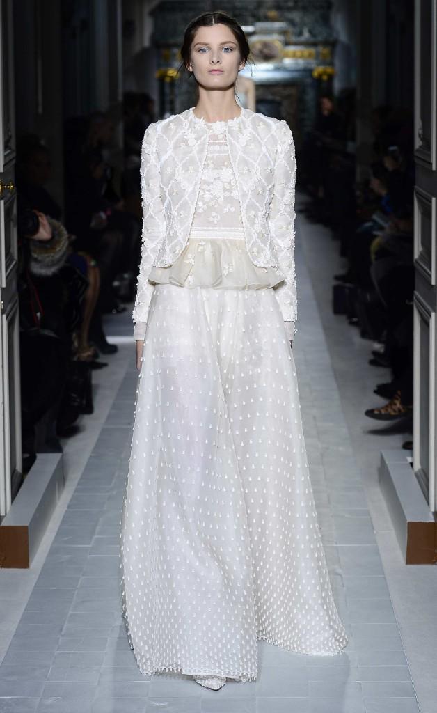 Schlichtes Brautkleid langarm,Valentino