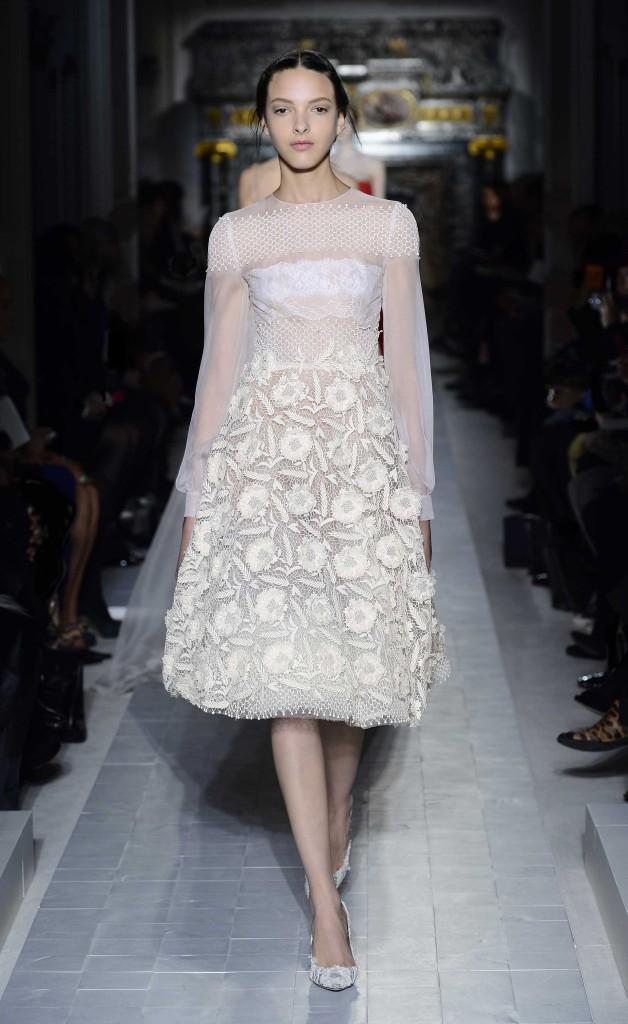 Transparentes weißes Kleid,Valentino