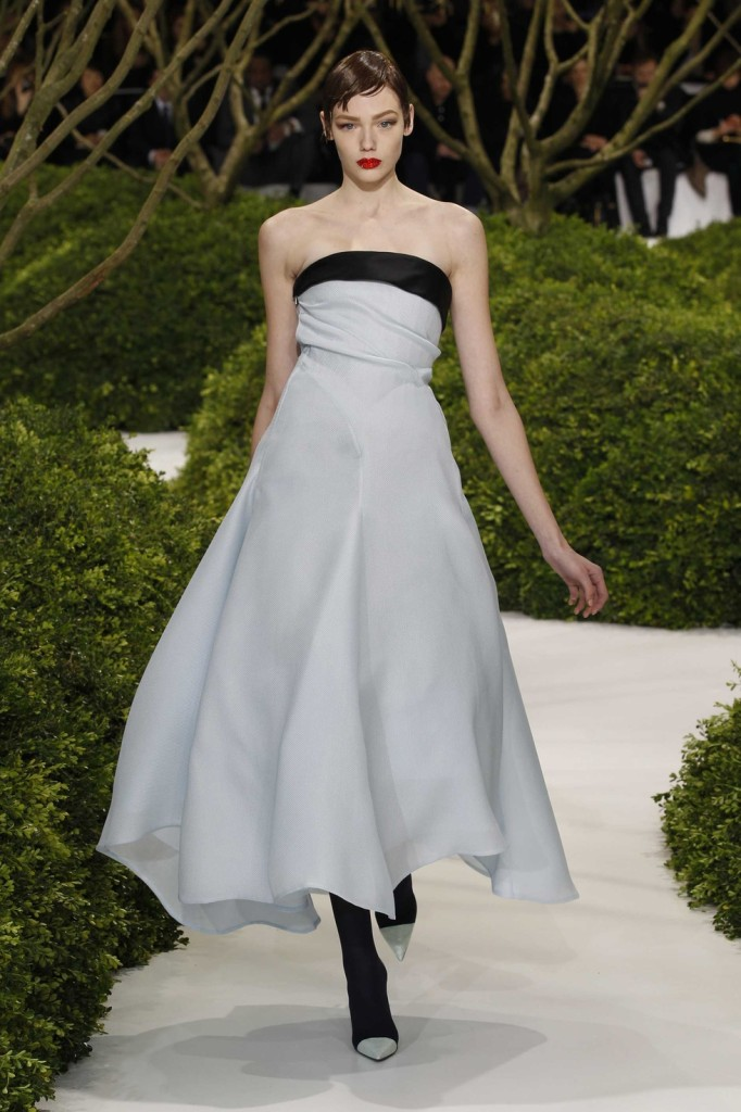 blue and black silver dress, Dior