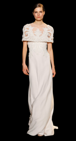 ELIE SAAB Brautkleid mit betonter Schulterpartie. Haute Couture 2013