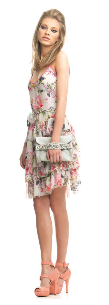 FORNARINA Kleid mit Rüschenrock