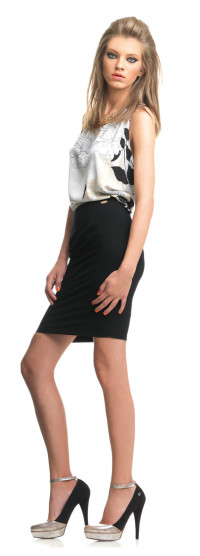 FORNARINA Kleid schwarz/weiß