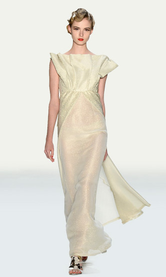 Guido Maria Kretschmer Abendkleid off-white