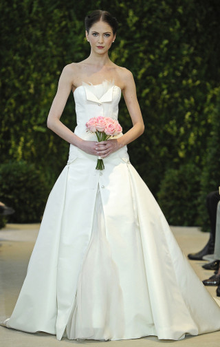 Moderne Hochzeitsrobe, Carolina Herrera 2014