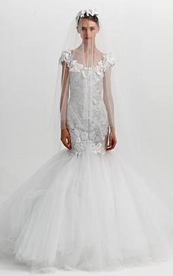 Hochzeit 2013 - Marchesa Brautkleid Meerjungfrauen-Schnitt