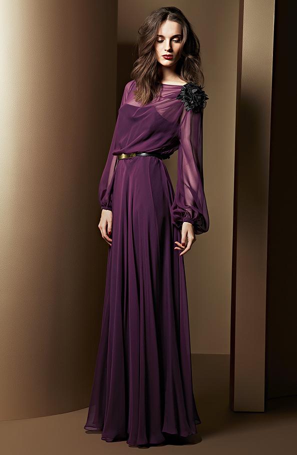 Langarm Abendkleid, Escada 2013/2014