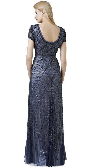 Abendkleid silber, Adrianna Papell