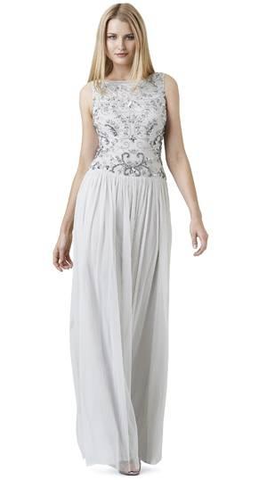 Weißes Abendkleid, Adrianna Papell