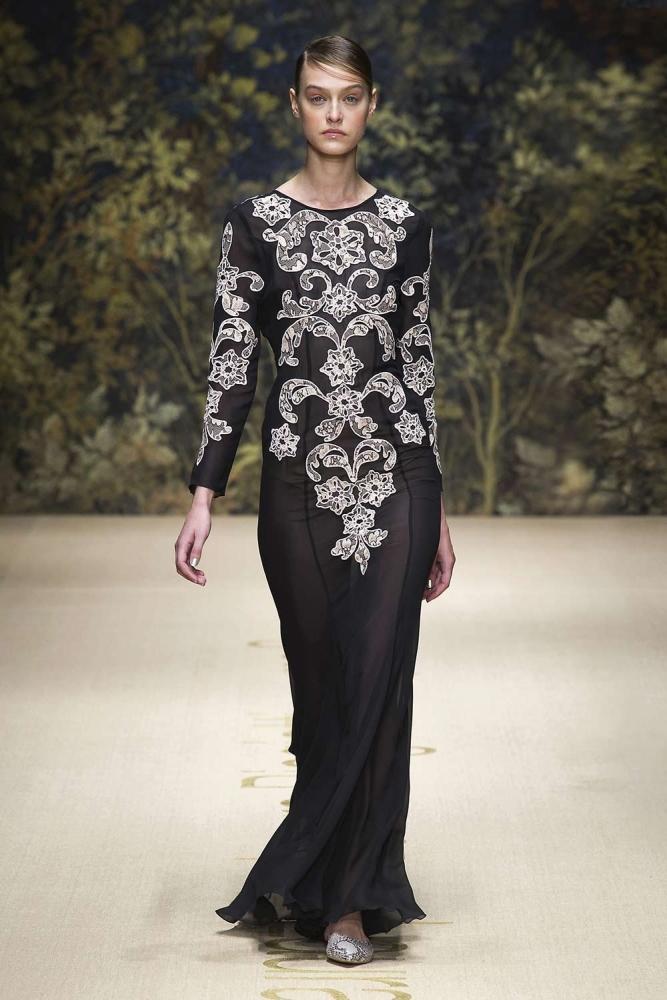 Langarm Abendkleid - Laura Biagotti SS 2014