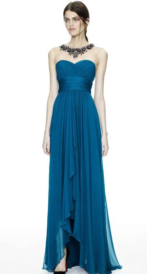 Abendkleid blau, Marchesa Notte