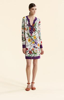Gucci Kleid mit Blumen