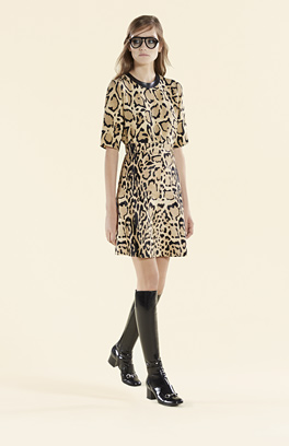Kleid Animal Print - Gucci 2015