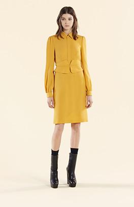 Gucci Kleider 2015 - Kleid gelb, langarm