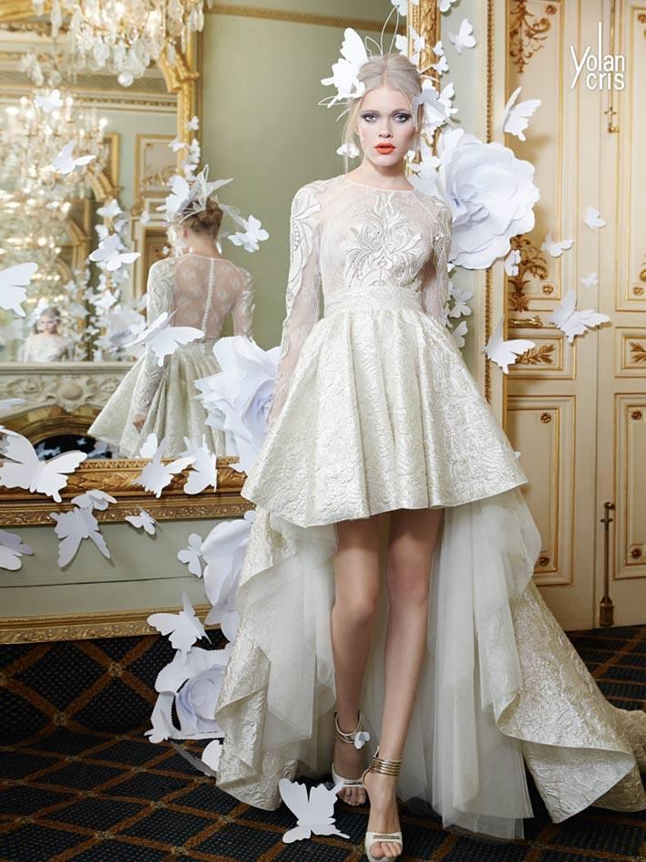 Brautkleider vorne kurz, hinten lang