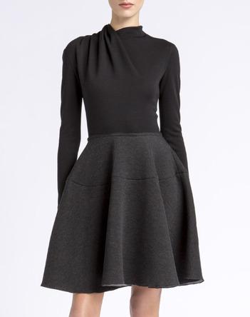 LANVIN Kleid dunkelgrau